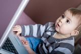 bébé informatique internet enfant bureau 1 poster