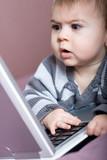 bébé éveil culture ordinateur génération poster
