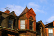 eves of row houses on newbury street in boston