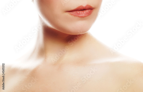 beautiful woman posing for a beauty concept