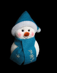 snowman on black background
