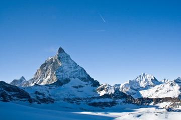 Matterhorn in winter, Swiss Alps