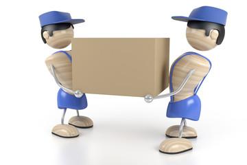 loaders bear the cardboard box