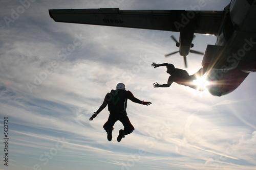 Tuinposter Luchtsport skydiver