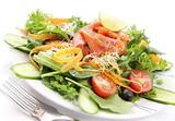 Fototapety Smoked salmon salad