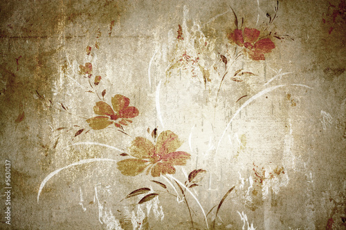Floral vintage wallpaper and background © dpaint