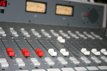 Broadcast radio sound audio mixer VU meter board
