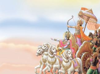 INDIAN GOD KRISHNA IN MAHABHARAT WAR WITH ARJUN