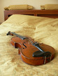 Violin in room