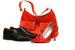 Handbag and shoes isolated on the white