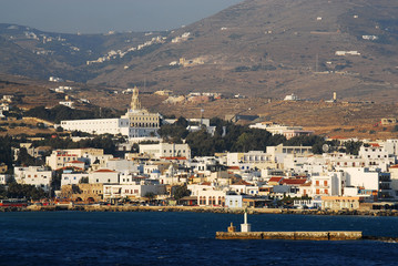 Tinos island general view