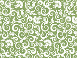 Floral repeat pattern, or seamless wallpaper, tilable background poster