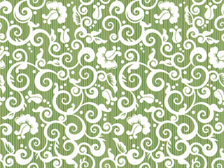 Floral repeat pattern, or seamless wallpaper, tilable background