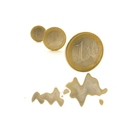 Melting euro coins
