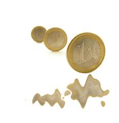 Melting euro coins