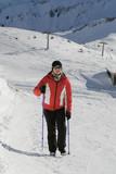 Nordic walking in winter 10 poster