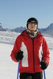 Nordic walking in winter 12 poster