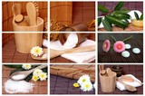 Fototapety Wellness Collage Sauna