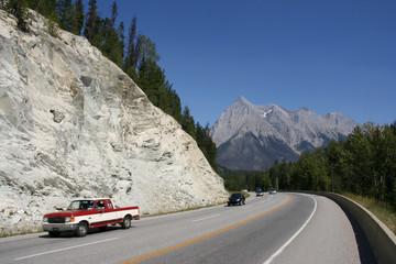 Trans Canada Highway - cars speeding motion blur