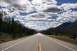 Straight scenic road in Kootenay National Park