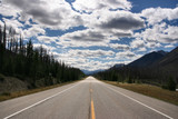 Straight scenic road in Kootenay National Park poster