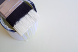 DIY home improvement paint brush on bucket or tin poster
