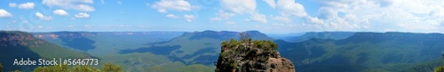 canvas print picture Blue Mountains - Panorama II