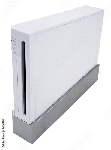 poster of Home Video Game Console In White Finish