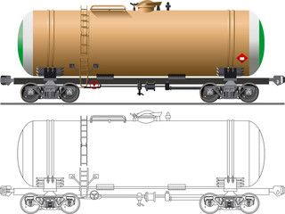 Oil / gasoline tanker car