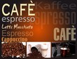 canvas print picture - Cafe Espresso Schild