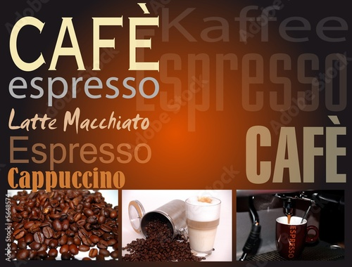 canvas print picture Cafe Espresso Schild