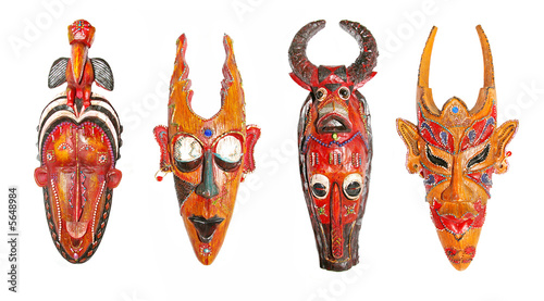 set of african masks (in high res)