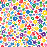 Seamless Repeating Colorful Flower Tile poster