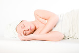 Wellness girl series laying down asleep poster