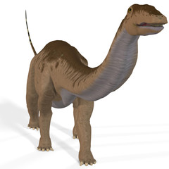 Rendered Image of a Dinosaur.Image contains a Clipping Path