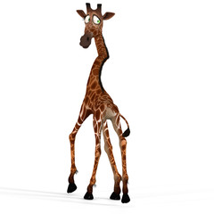 Rendered Image of a giraffe - contains a Clipping Path