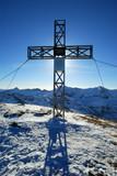 The cross in Sport Gastein, Austria poster