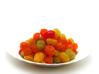The candied fruits