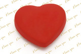 Heart shaped fridge magnet with copy space for texts  poster