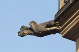 bizarre gargoyle on the cathedral St Vitus in Prague poster