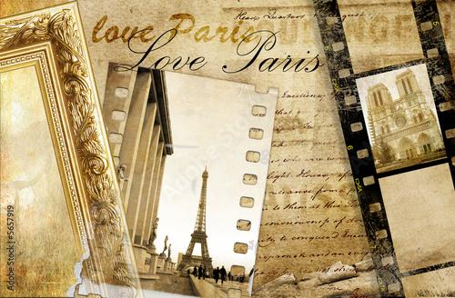 Paris memories - artistic clip-art