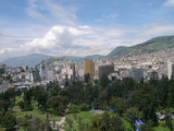 Panorama of Quito, capital of Ecuador poster