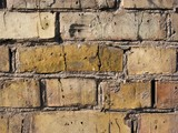 Bare brick wall detailed texture closeup poster