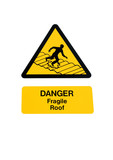 Fragile Roof Sign poster