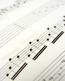 Closeup of simple music score