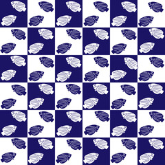 blue vector seamless tile