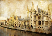 Belgien - Gent - Bild im Retro-Stil