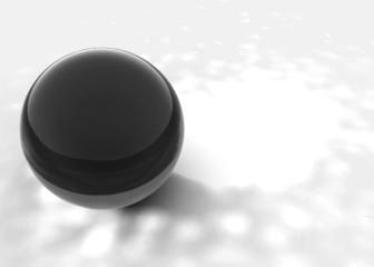 Esfera de vidro negra