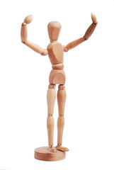 victory wooden figure
