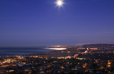 Beautiful Moon Set over Dana point taken from San Clemente.